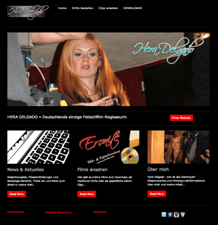 Hera Delgado - Website neu