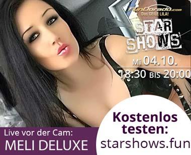 Meli Deluxe live in der Starshow - Jetzt kostenlos dabei sein!