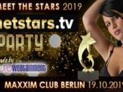 Im mondänen Club Maxim steigt die Netstars.tv Party 2019