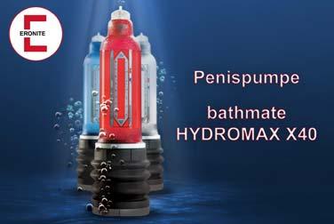Die Penispumpe bathmate Hydromax X40 in blau