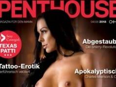 Texas Patti ziert aktuelles Penthouse Cover
