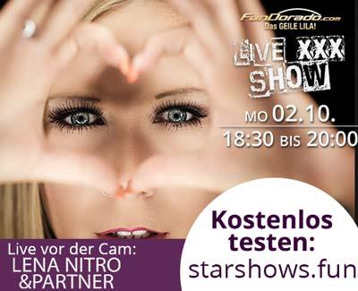 Starshow Lena Nitro live mit Partner - Kostenlose Webcamshow